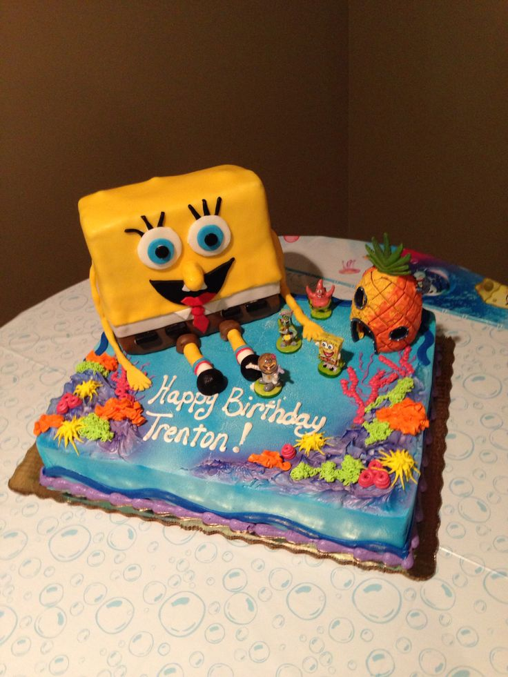 Spongebob birthday cake Party Ideas Pinterest