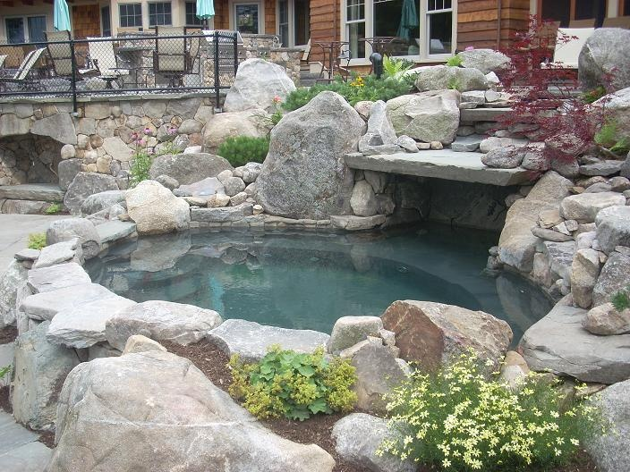 backyard pool  Awesome Inground Pool Designs  Pinterest