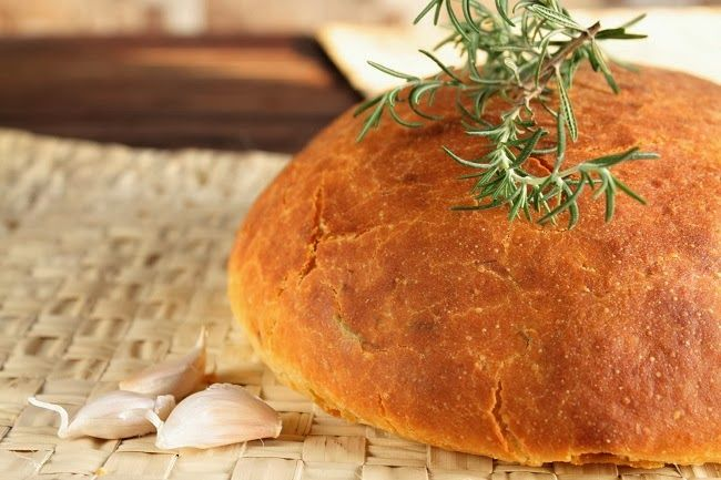 POTATO ROSEMARY AND GARLIC BREAD | BREAD & CRACKERS | Pinterest