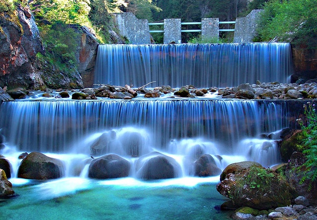 manmade waterfall wall for home decor water falls