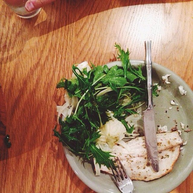 Bronzino w/ orange fennel salad | foodie | Pinterest