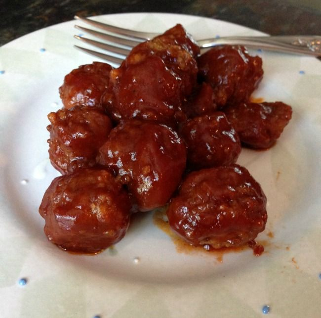 Slow Cooker Party Meatballs Recipe | Mom Foodies | Pinterest