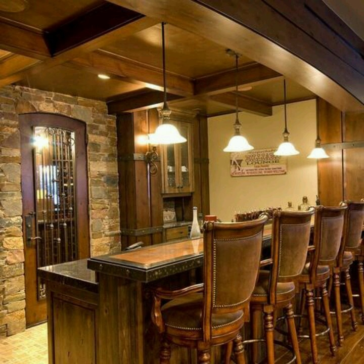 Rustic basement bar basement inspiration pinterest for Rustic basement