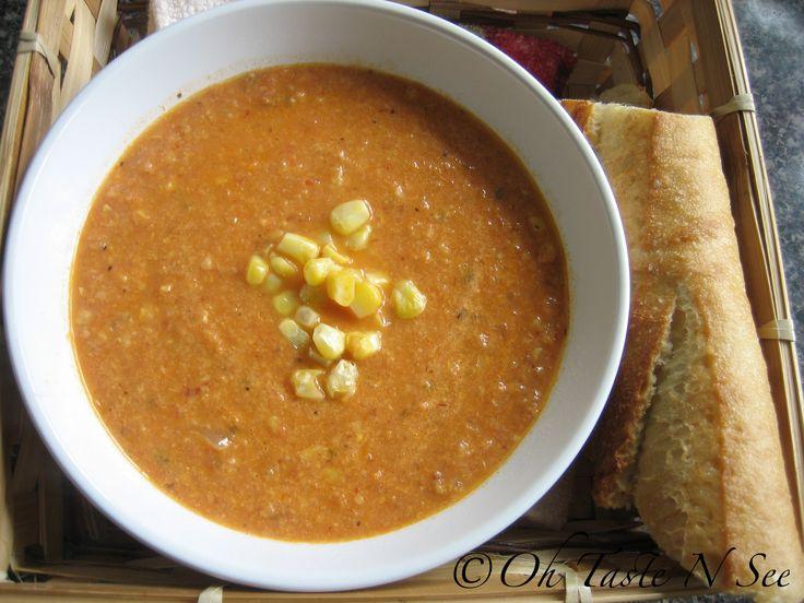 Chipotle Corn Tomato Soup | Soups | Pinterest