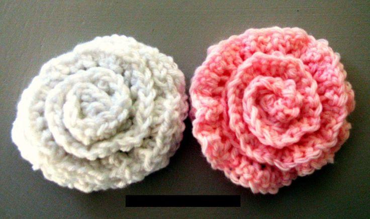 flores de lana tejidas a crochet