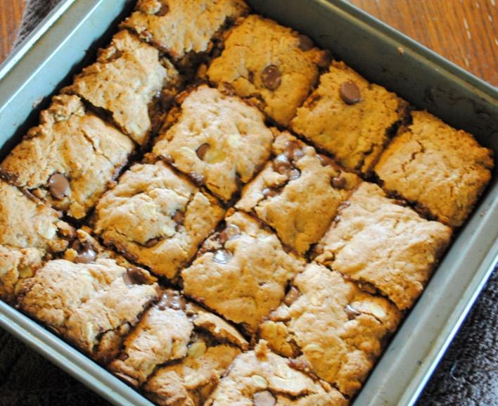 vegan oatmeal chocolate chip bars | Yummy | Pinterest