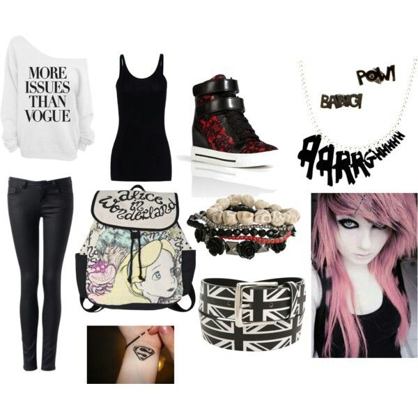 Scene outfit casual polyvore | Emo girls | Pinterest