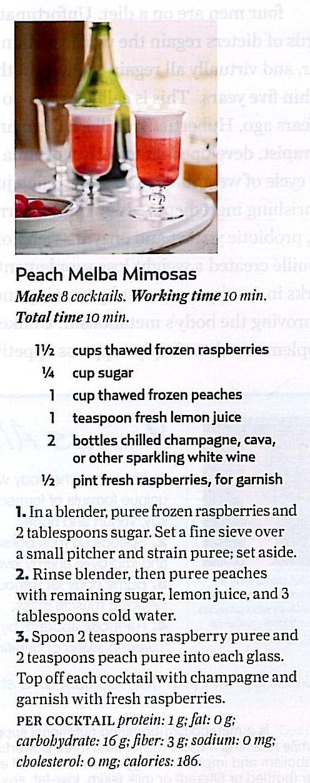 Peach Melba Mimosas | Favorite Recipes | Pinterest