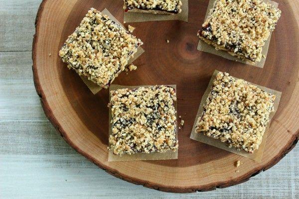 No-Bake Blueberry Almond Oat Bars | bars | Pinterest