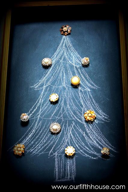 vintage chalkboard christmas tree | C H R I S T M A S | | Pinterest