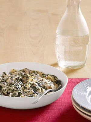 Creamed Spinach with Artichokes and Shallots