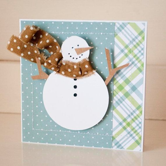christmas cards greeting cards handmade snowman merry
