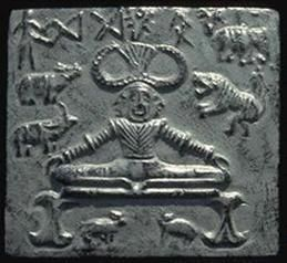 Picture of man in a yoga posture, from Indus Valley Civilization (3300–1300 BC)