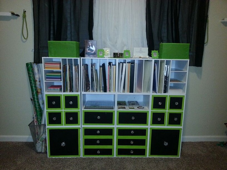Pin by ashley elson on craft room wish list pinterest for Recollections craft room storage amazon