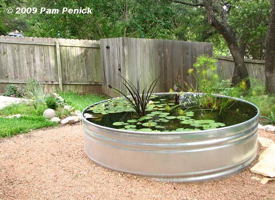 Stock Tank Garden Pond Garden Pinterest
