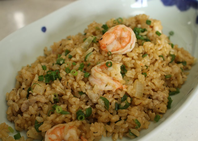 Dirty Brown Rice with Shrimp ,,,,, I like it !!