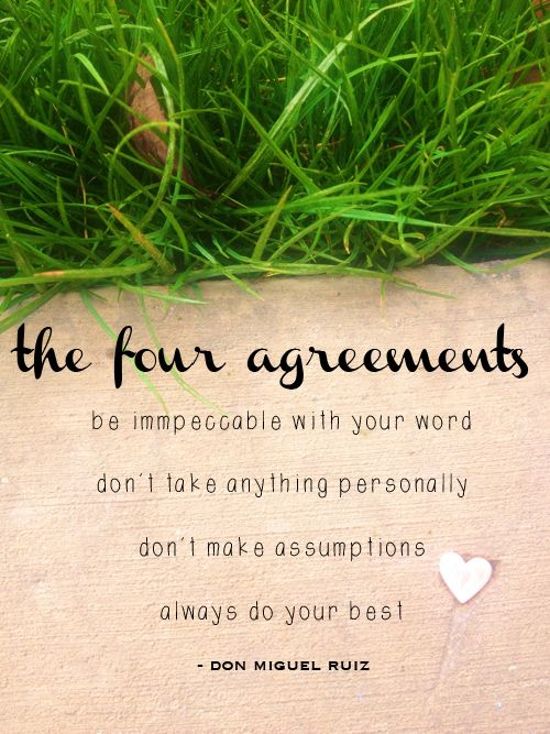Four Agreements Poster Image Collections Agreement Letter Format