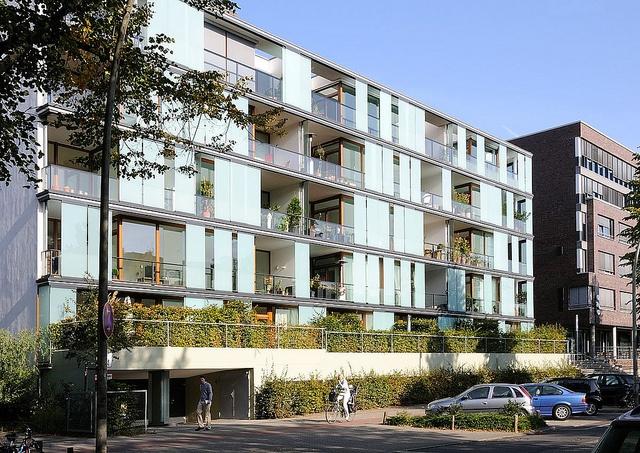 7669 Moderne Architektur - neue Wohnhäuser am Lehmweg, Falkenriedareal - Bezirk HH-Nord, Hoheluft Ost. by christoph_bellin, via Flickr
