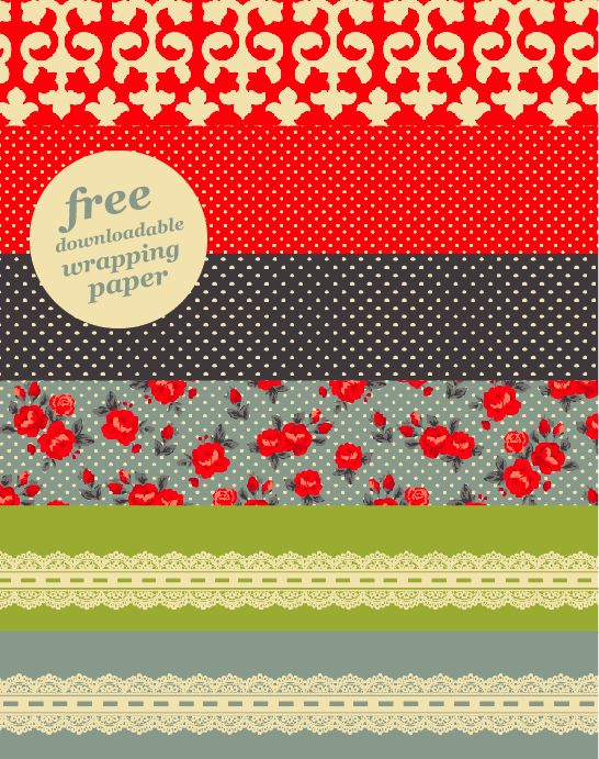 free printable wrapping paper | Fonts and grafics | Pinterest
