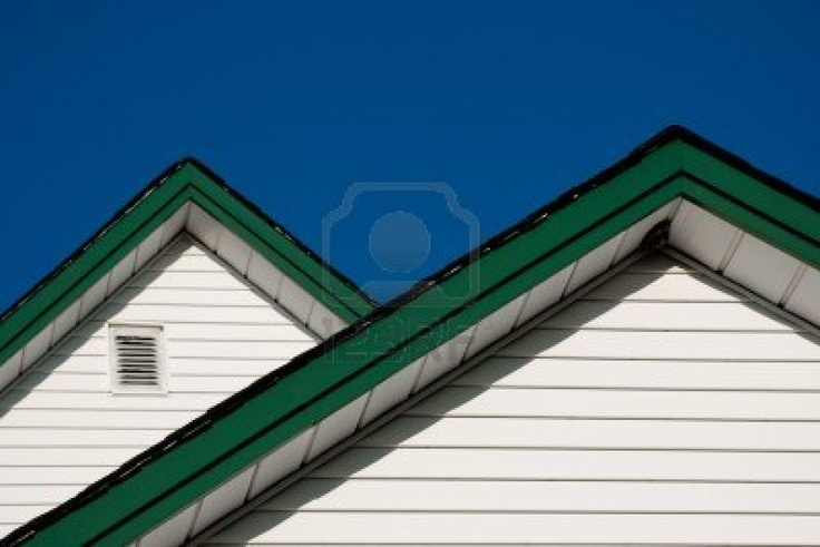 Green Trim On The Roof Line Cottage Living Pinterest