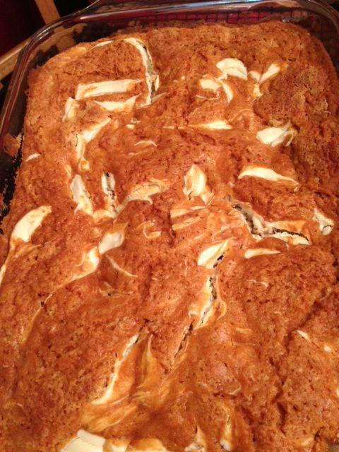 Lightened Up Pumpkin Cream Cheese Bars | Cake | Pinterest