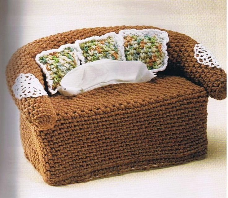 Free Crochet Pattern For Sofa Tissue Box Cover : Pin by Melissa Wise on Crochet tissue boxes Pinterest