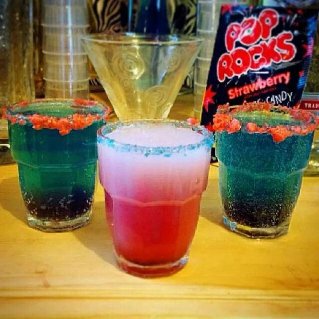 4th of july drinks layered
