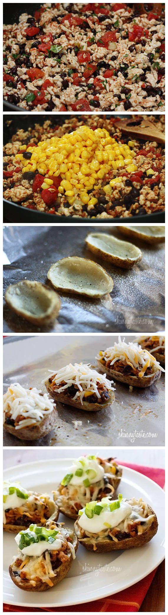 fe turkey stuf fe d peppers loaded turkey santa fe baked potato skins ...
