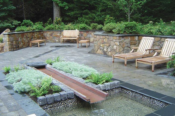 Pin by laura malcarney on landscape pinterest for Garden decking features