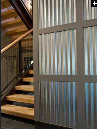 corrugated metal wall office design pinterest