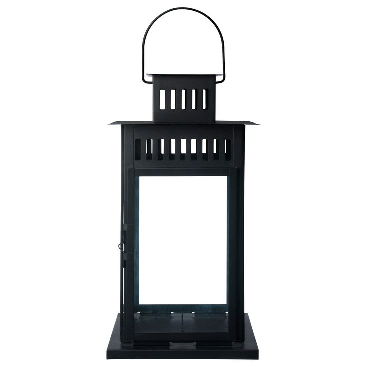 Borrby lantern for block candle black indoor outdoor black - Laterne ikea ...