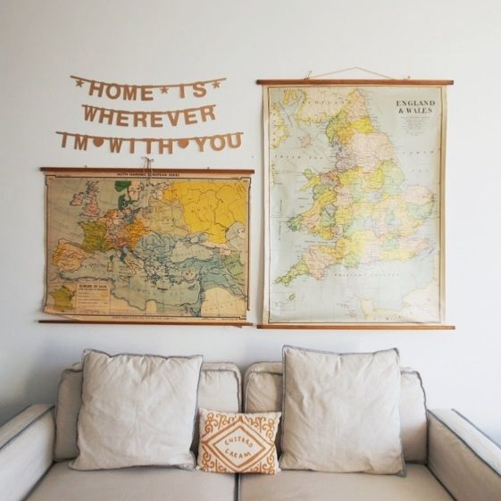 Old maps & banner