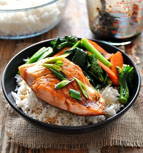 Sweet & Sour Glazed Salmon with Sautéed Carrot & Chinese Broccoli ...