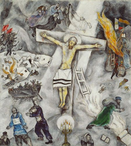 Marc Chagall's White Crucifixion (1938) | Artists | Pinterest Chagall Crucifixion