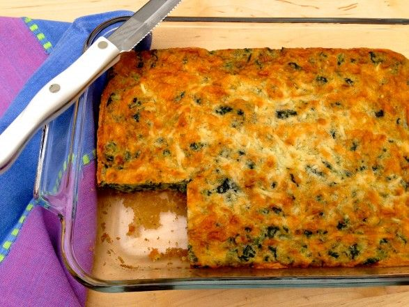 Baked Cheddar Spinach Squares | ☙ Veg Out | Pinterest