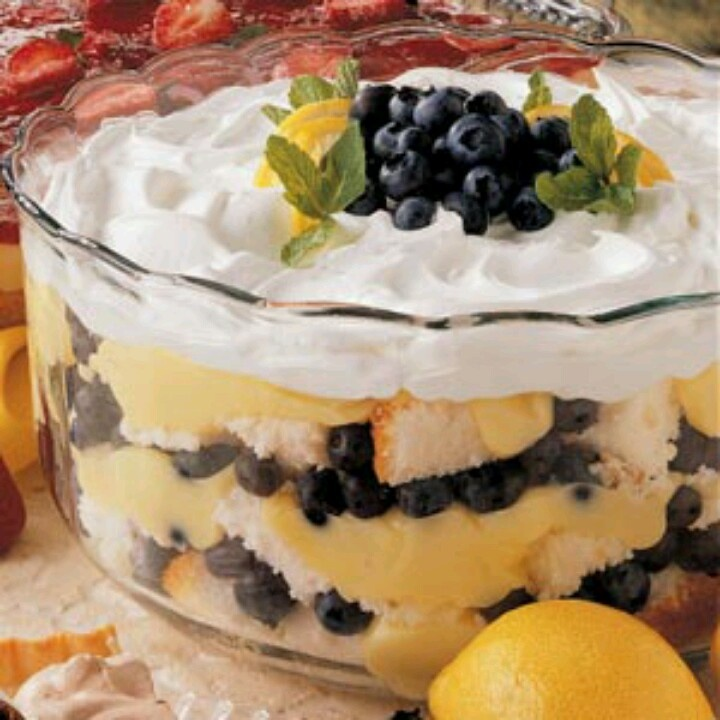 Blueberry Trifles With Mascarpone Whip Recipes — Dishmaps
