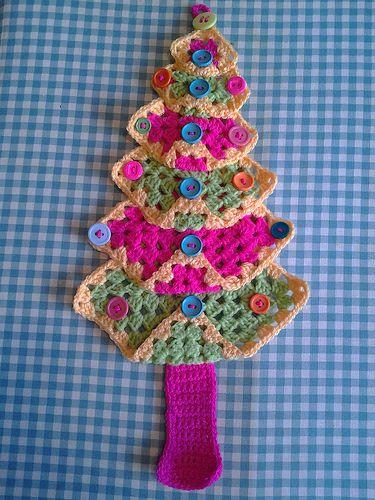 Free Crochet Granny Square Christmas Tree Pattern : granny square christmas tree Crochet Pinterest