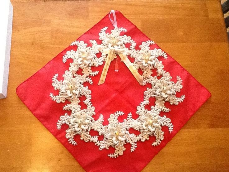 Elegant snowflake wreath elegant christmas crafts pinterest
