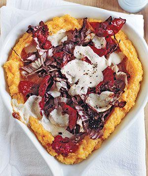 ... Dish Polenta Pizza with sun-dried tomatoes, radicchio, and mozzarella