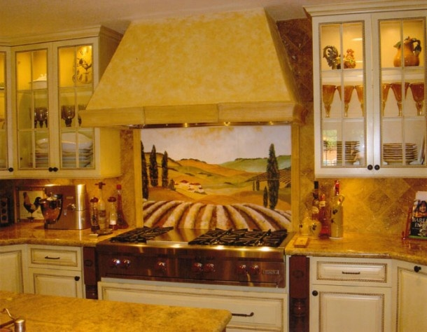 Colors for tuscan kitchen wall townhouse inspirations - Tuscan colors for kitchen ...