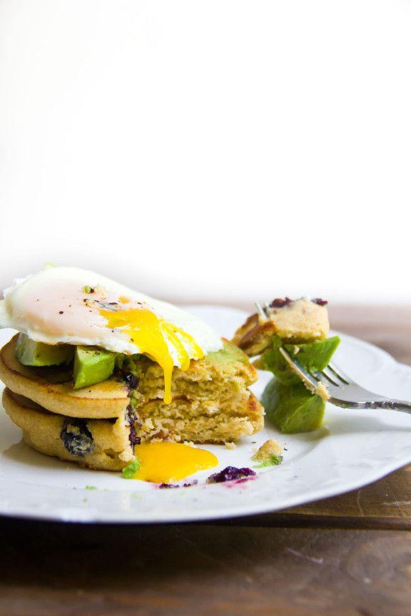 Blueberry Pecan Cornmeal Pancakes   Eggcellent.   Pinterest
