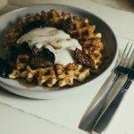 Waffles w/ Fig Compote & Orange-Honey Crème Fraîche: @Sarah Kieffer ...