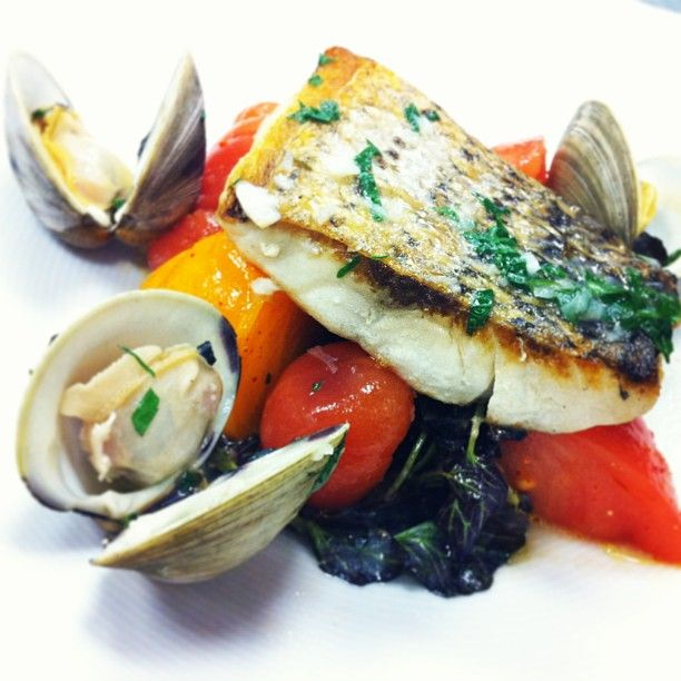 New York Today's Chef Special: Seared Striped Bass, Heirloom Tomatoes ...