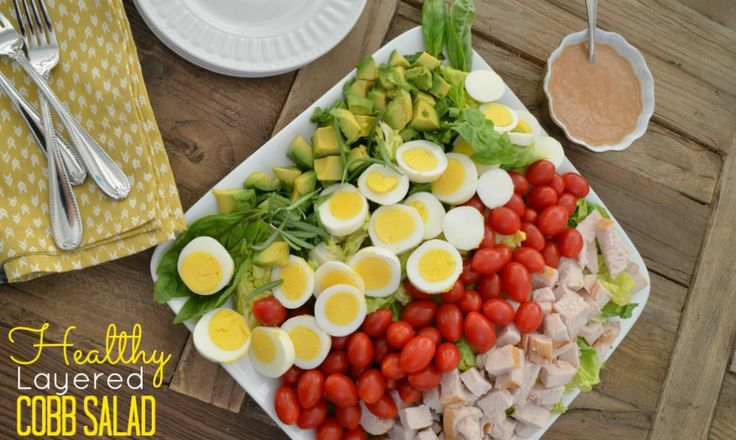 healthy layered cobb salad | Food | Pinterest