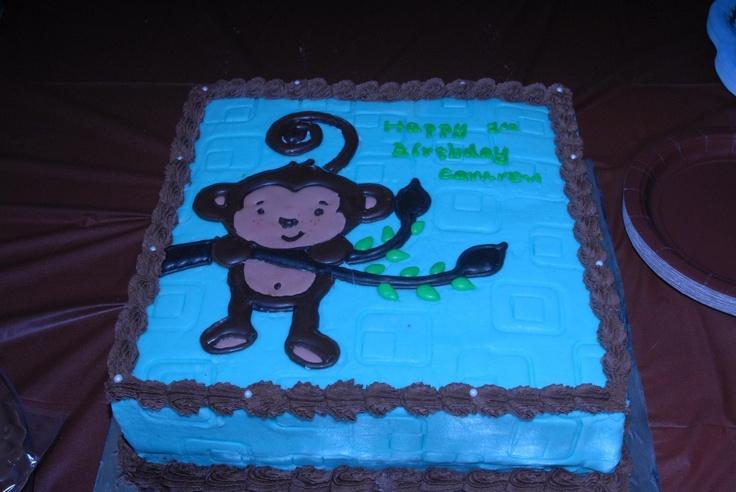Monkey boy cake inspiration monkey boy baby shower birthday part - Monkey baby shower cakes for boys ...