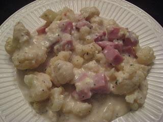 Cookin' Lean Like Paula Deen: Cauliflower and Ham au Gratin
