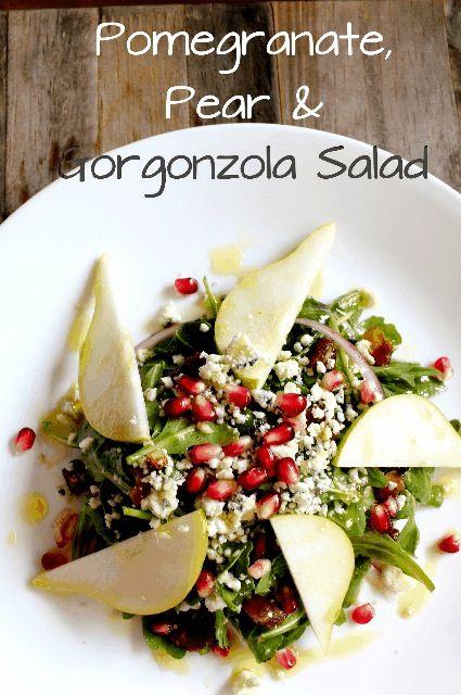 Pomegranate, Pear and Gorgonzola Autumn Salad
