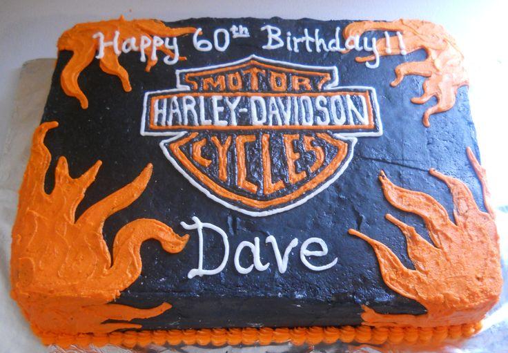Harley-Davidson birthday cake  Cakes ~ Harley Davidson  Pinterest