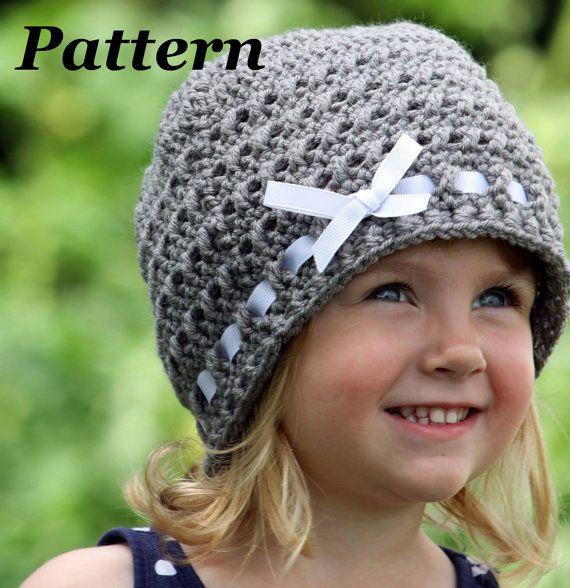 Crochet Hat Patterns For Winter : Crochet Ribbon Hat Pattern, Crochet Winter Hat Pattern ...