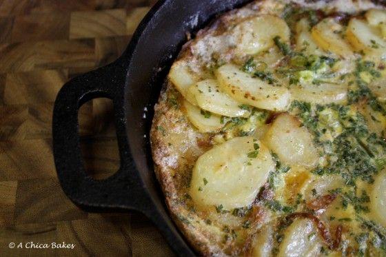 onion frittata potato frittata with prosciutto and gruyère recipe tom ...